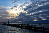 Sunset after Hurricane Sandy- Popes Creek